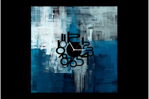Карина-часы Текстура синяя